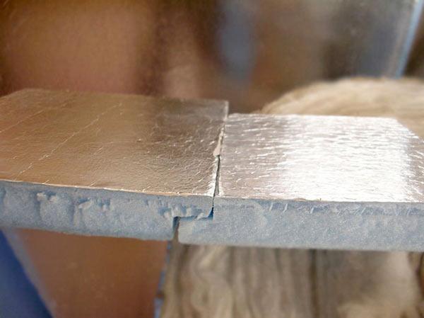 Фольгированный пенопласт с замком для бани
