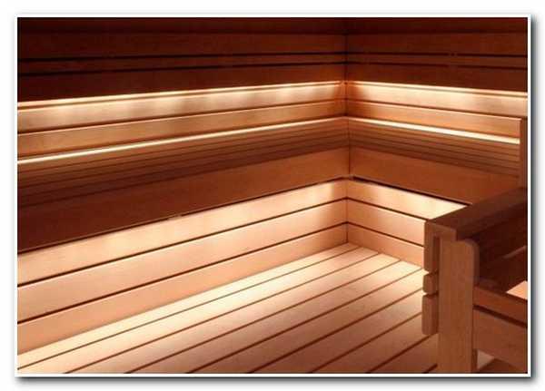 Освещение бани с помощью оптоволокна