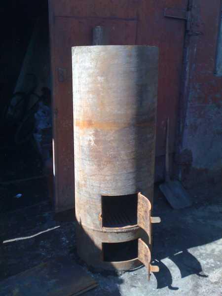 Печь в баню из трубы
