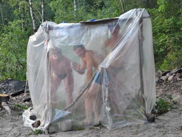 Баня-палатка из полиэтиленовой пленки