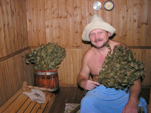 Главное отличие русской бани - использование веников