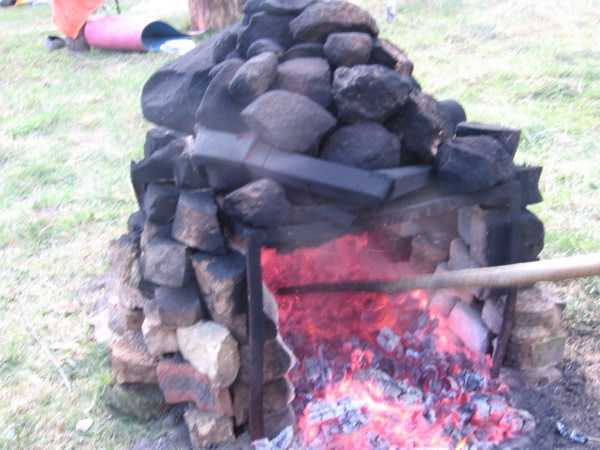 Как сложить печь для бани-палатки