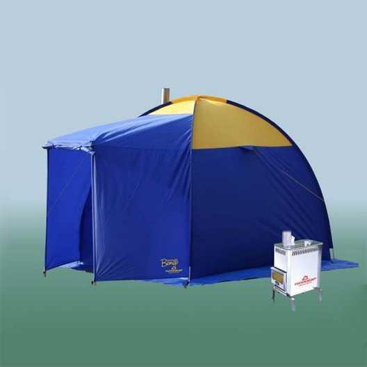 Палатки-бани с печкой