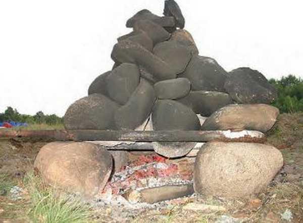 Печь-каменка для походной бани своими руками