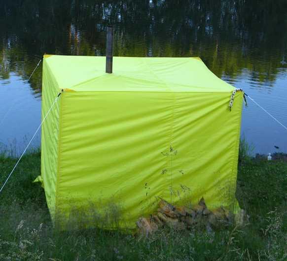 Походная баня-палатка - вариант отдыха на даче, рыбалке либо охоте