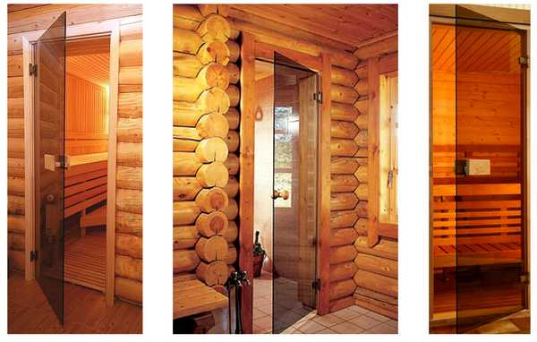 Стеклянные двери для бани и сауны выглядят очень стильно