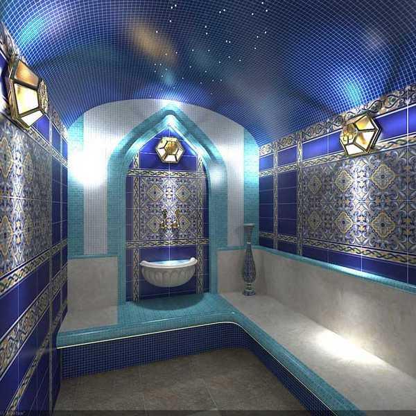 Мозаичная плитка - лучший выбор для оформления хамама