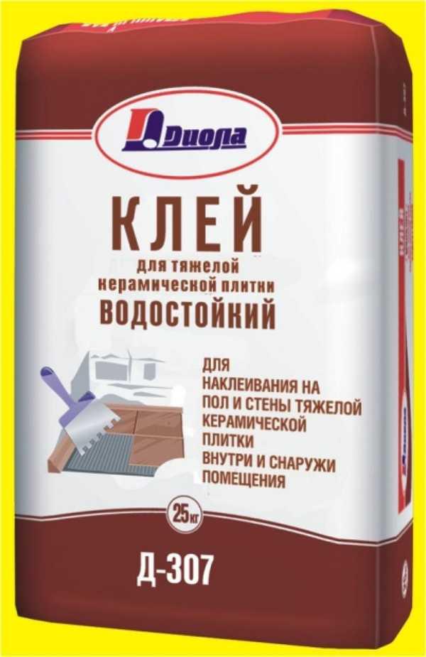 """Водостойкий клей для укладки плитки в бане и сауне """"Диола Д-307"""""""
