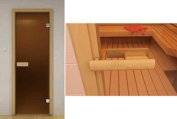 Стеклянные двери для сауны aldo