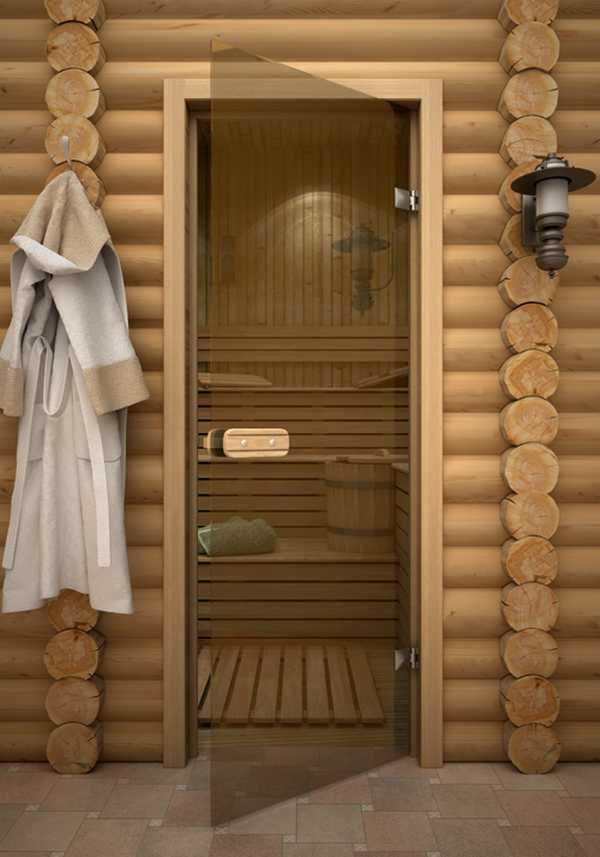 Стеклянная дверь для бани фото