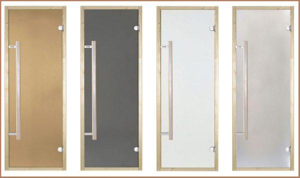 Стеклянные двери для бань и саун финской фирмы Harvia