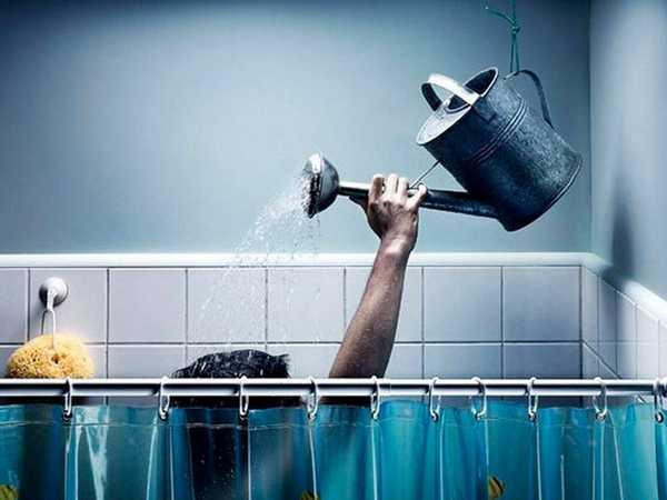 Душ в бане. Фото реальное