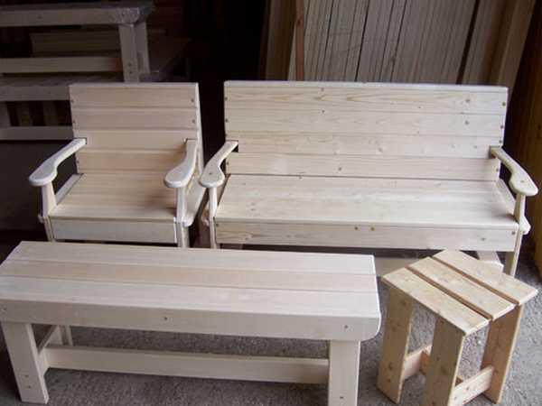Мебель из дерева своими руками размеры