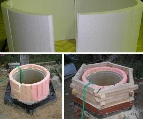 Термоизоляция стен колодца