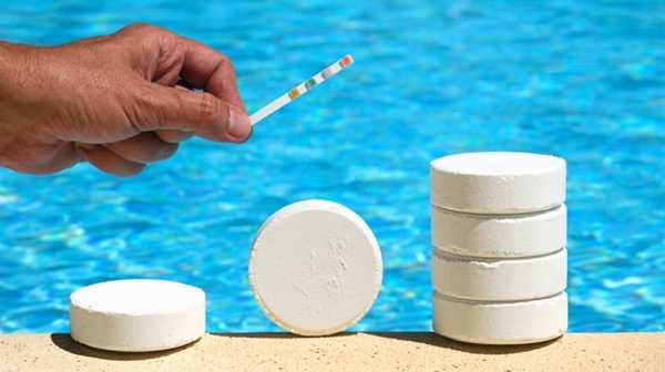 Таблетки для чистки бассейна