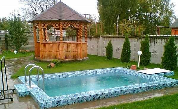 Бетонный бассейн на даче своими руками