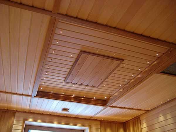 Подвесной потолок из вагонки