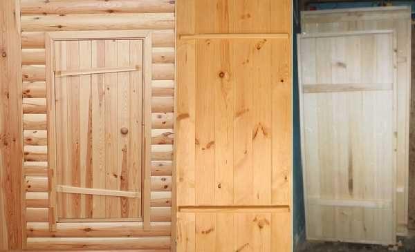 Даже самые простые двери из дерева смотрятся очень неплохо