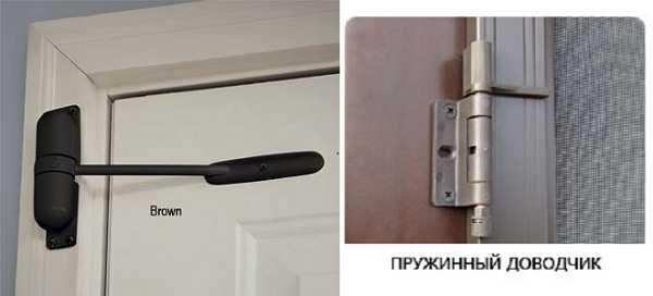 Пружинные доводчики - вариант для межкомнатной двери