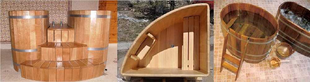 Купель из дерева для бани
