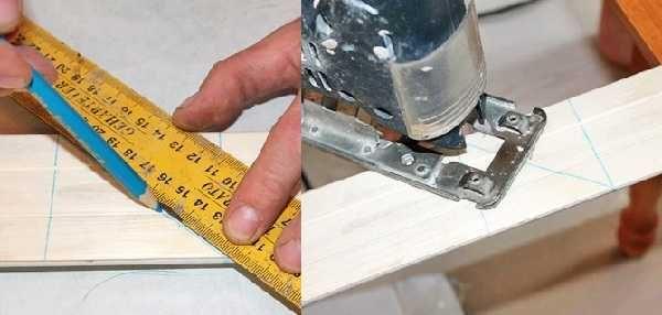 Угол 45 градусов можно получить лишь с помощью угольника и карандаша