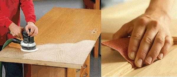 Безупречной поверхности можно достигнуть только шлифовкой древесной породы