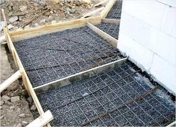При устройстве бетонной отмостки нужно делать компенсационные швы