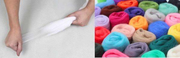 Шерсть для валяния есть разных цветов