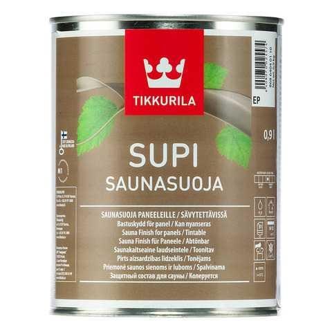 Защитная антибактериальная пропитка для древесины в бане на водной основе Tikkurila Supi Saunasuoja (ТиккурилаСупи Саунасуоя)