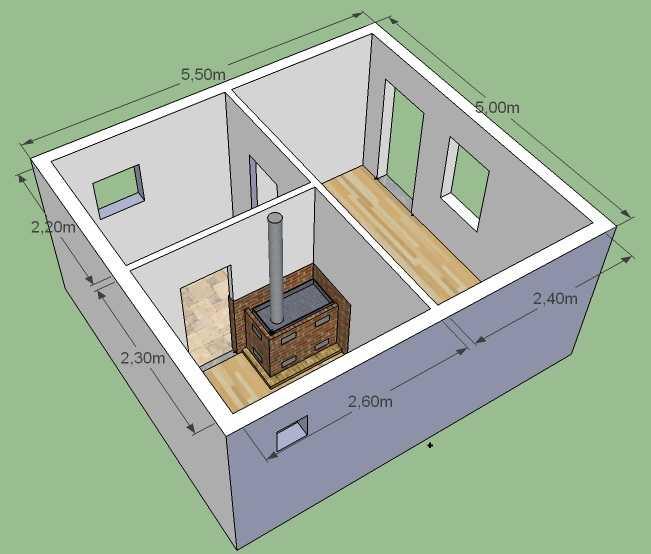 Как построить баню из пеноблока 15
