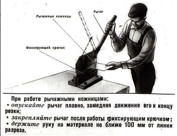 Как работать с рычажными ножницами по металлу