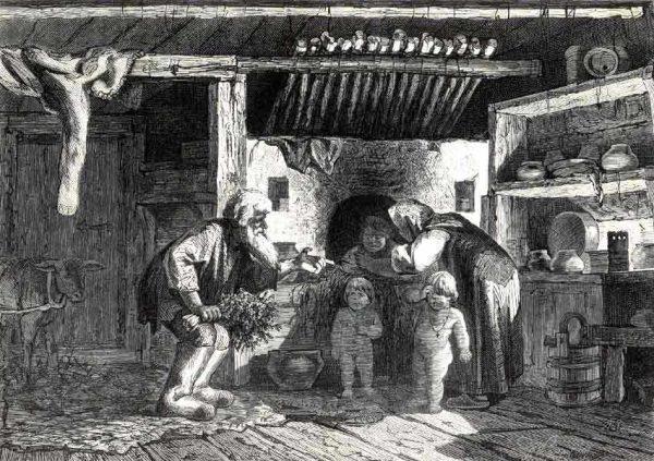 Те, у кого не было отдельной бани парились прямо внутри большой печи, положив вниз охапку сена - чтобы не обжечься
