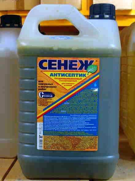 Сенеж: пропитки, антисептики, антипирены, для древесины в бане.