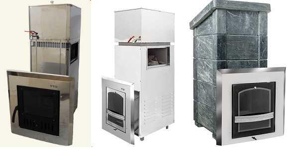 Это разные варианты печей для бани Сударушка
