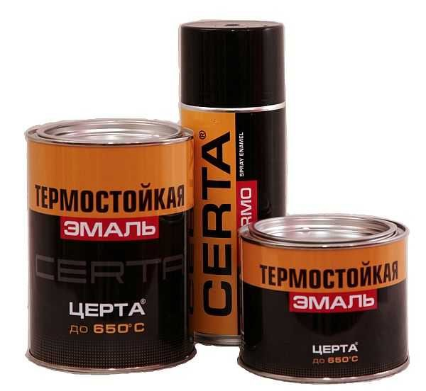 Теплостойкая краска по металлу Certa (Церта)
