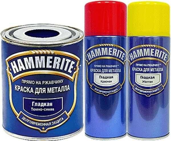 Жаростойкая краска по ржавчине Hammerite защитит к тому же от воды