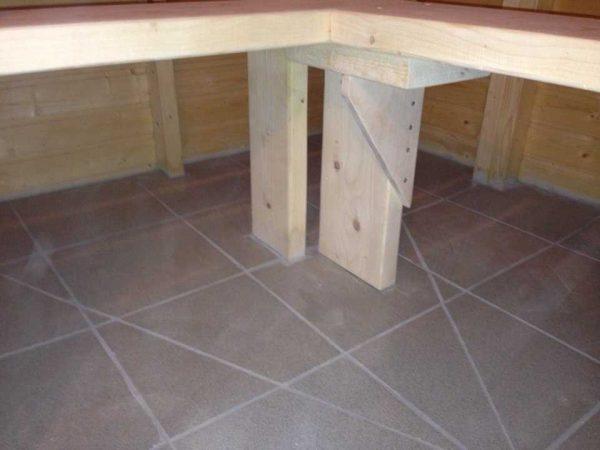 Когда цемент схватиться, укладываем плитку