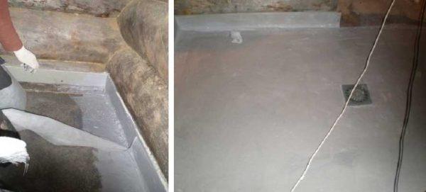 Важно хорошо заизолировать от попадания влаги примыкание к стенам