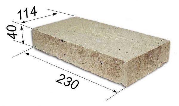 Размеры шамотного кирпича ША-6 либо ШБ-6 (лещадки)