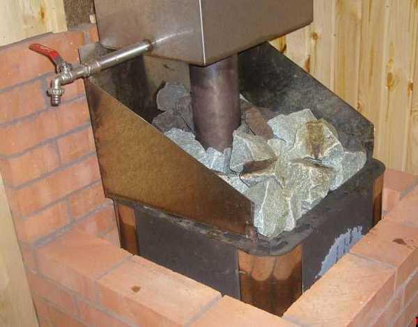 Как обложить печь для бани кирпичом фото