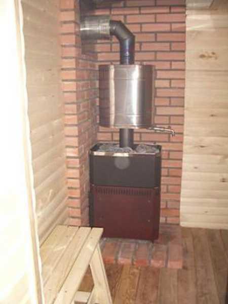 Как установить печь для бани