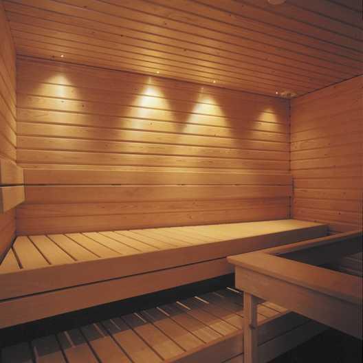 Освещение бани при помощи светодиодных светильников