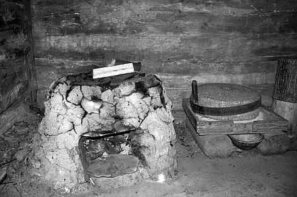 Старая печь по-черному в музее