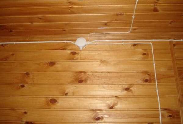 Разводка проводов в бане