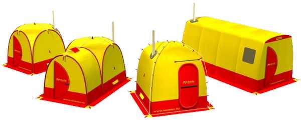 Видов и моделей готовых бань-палаток много