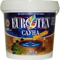 Пропитка - антисептик для бани с воском EUROTEX