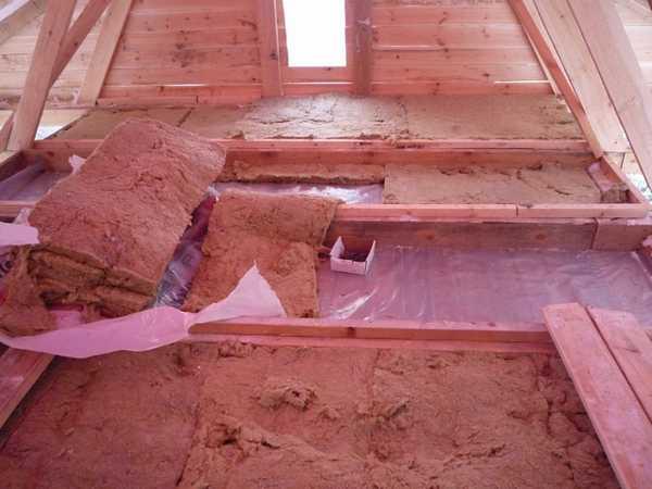 Утепление крыши/потолка бани или сауны