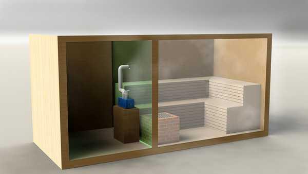 Один из способов установки парогенераторов для бани