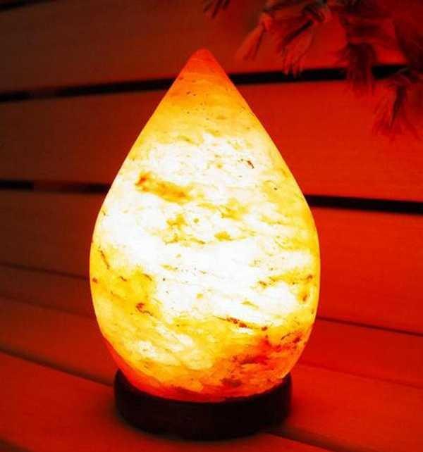 Соляная лампа из гималайской розовой соли