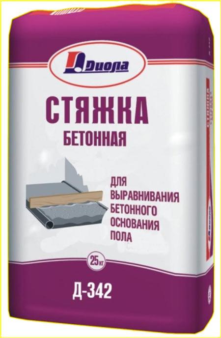 """Готовая сухая смесь для стяжки пола """"Диола Д-342"""""""